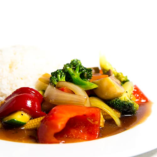 Si-chuan wok vegetar