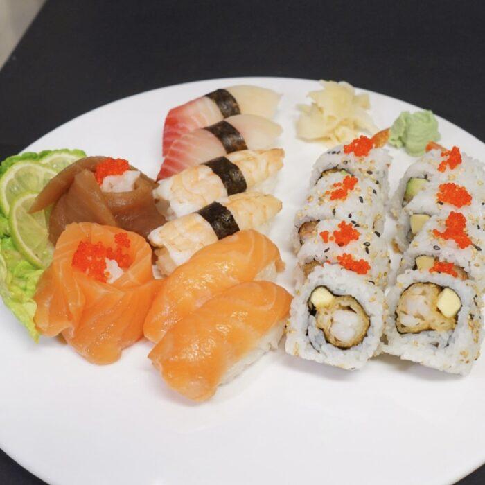 Nigiri, Maki og Sashimi 20 biter