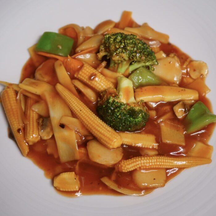 Gongbao wok vegetar